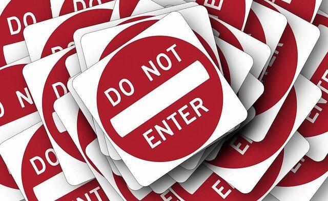 入室禁止の画像